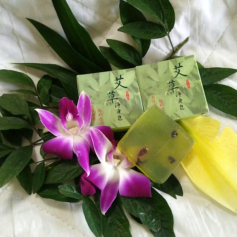 艾草天然精油香皂35g【丹晴皂來好運站】