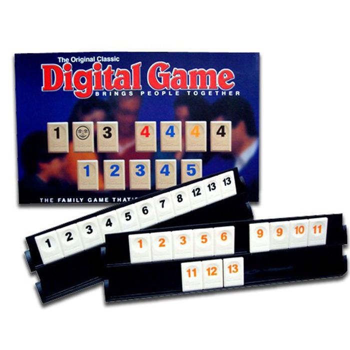 糖衣子輕鬆購【DS232】以色列拉密麻將數字桌遊兒童益智遊戲玩具袋裝旅行版