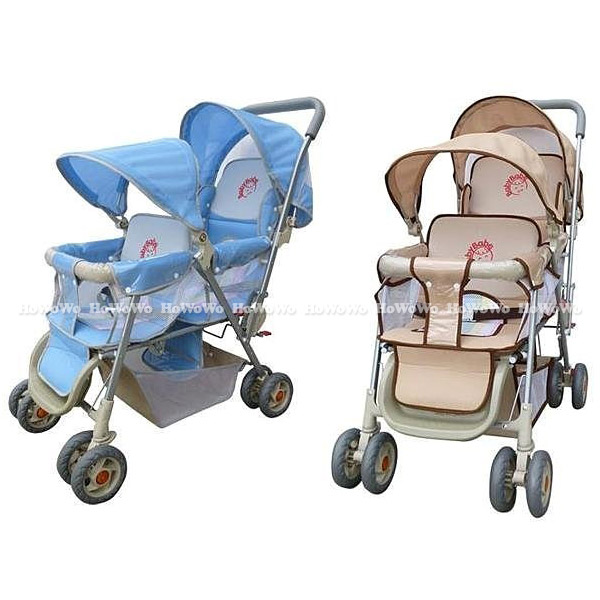 babybabe 豪華嬰兒雙人推車(雙篷型)328