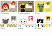 插畫家 磁性 書籤 明信片 CAT 貓 卡片 紀念卡 標籤 禮品