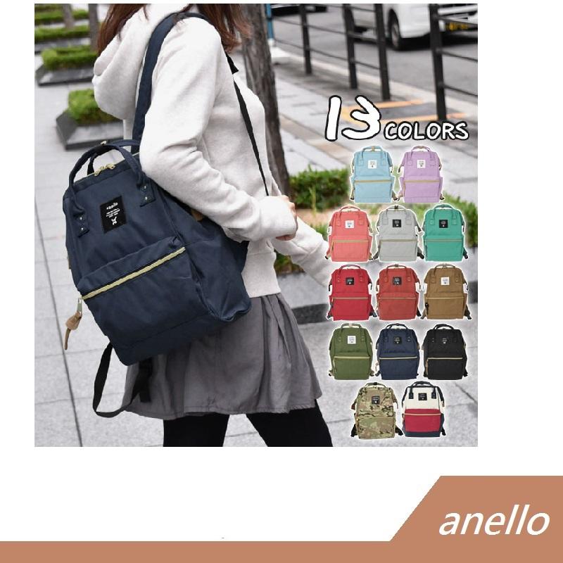 Anello mini 迷你 帆布款 後背包 大口包 原廠授權專櫃正品【RH shop】日本代購