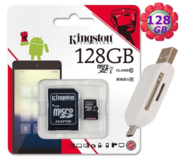 附T05 OTG 讀卡機 KINGSTON 128GB 128G 金士頓【80MB/s】microSDXC microSD SDXC  micro SD UHS-I UHS U1 TF C10 Class10 手機記憶卡 記憶卡
