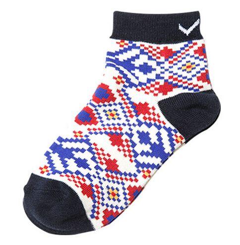 [陽光樂活] PONY APPAREL 短襪 53U3AJ85DB 米白x海軍藍x紅
