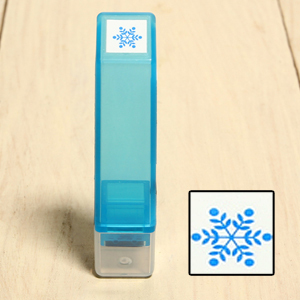 「Kodomo小孩牌」手帳小印章-118結晶雪花(藍)