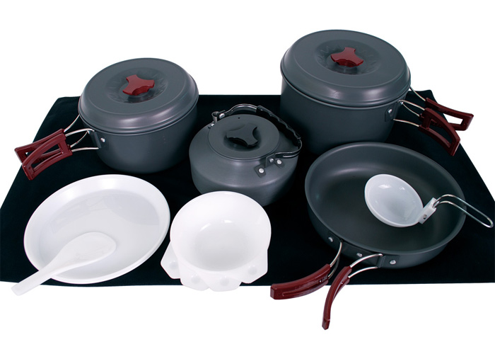 Rhino 犀牛 |台灣|  四人輕便套鍋/露營炊具 調理鍋 登山鍋 煎鍋/K-4