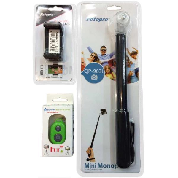 Fotopro QP-903L 自拍桿 送SJ-85強力手機夾+藍芽遙控器 自拍神器 含稅價