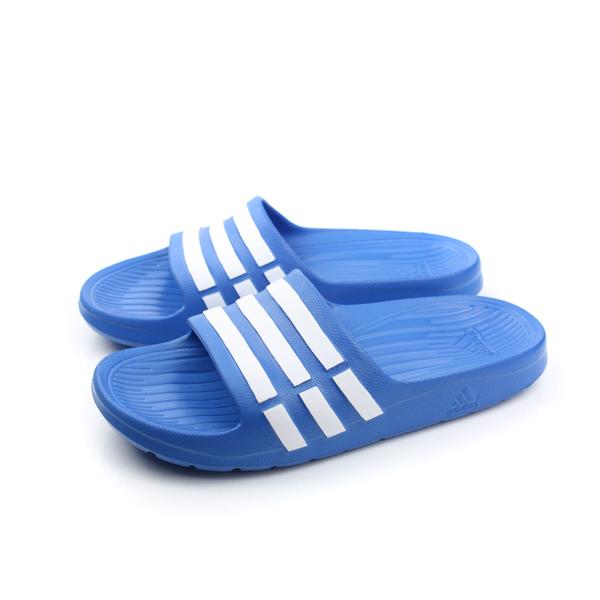 adidas Duramo Slide 拖鞋 藍 大童 no330