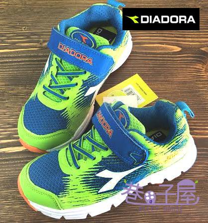 【巷子屋】義大利國寶鞋-DIADORA迪亞多納 男童四大機能寬楦超彈力鷹羽跑鞋 [9705] 綠 超值價$398