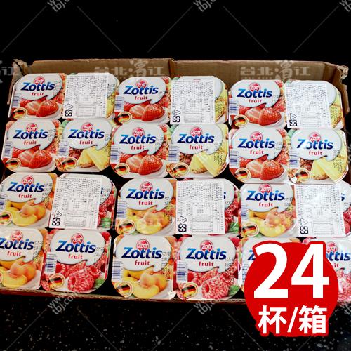 補貨中【台北濱江】zottis水果口味優格115g/杯x24杯/箱(蔓越莓,水蜜桃,草莓,鳳梨)