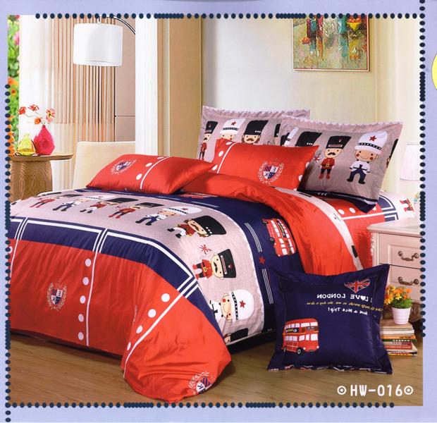 ✧臺灣製✧舒柔棉磨毛超細纖維床包組《HW-0016》5X6.2尺雙人床包組+兩用被 四件組◤彩虹森林◥