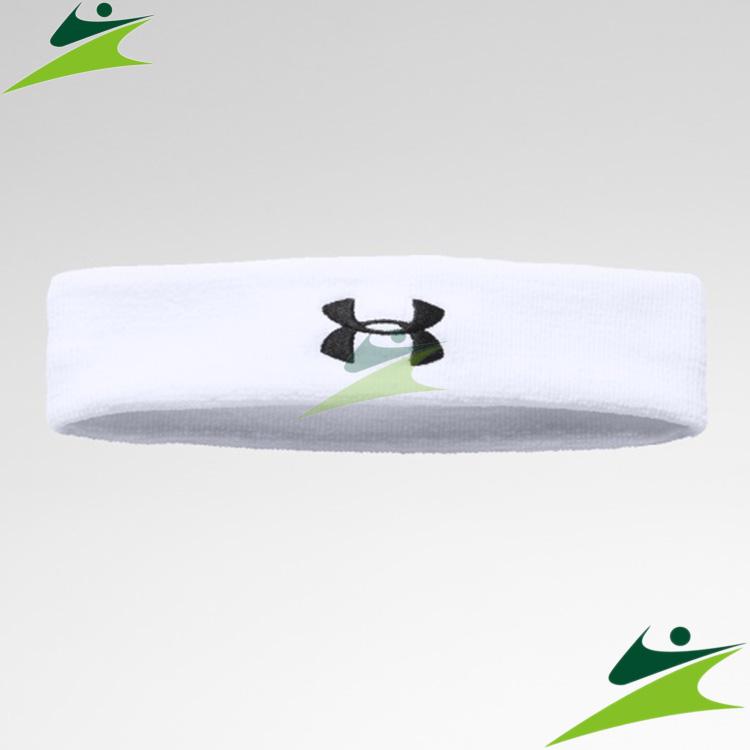 元禾)) UNDER ARMOUR 男 Performance運動頭帶 白 1276990-100