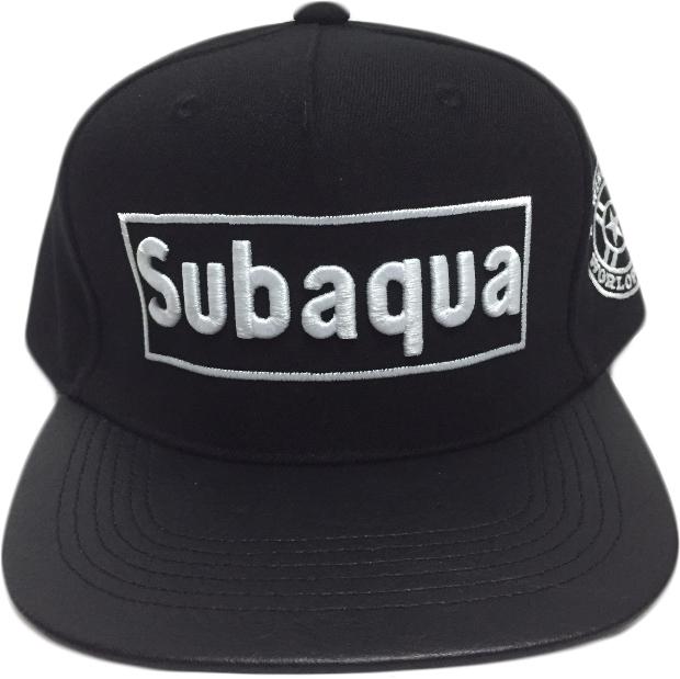 subaqua 立體 電繡 棒球帽 平板帽  黑 紅 黃