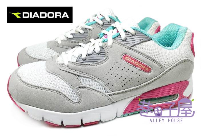 【巷子屋】義大利國寶鞋-DIADORA迪亞多納 女款三大機能超彈力抗壓氣墊運動跑鞋 [9873] 灰桃 超值價$590