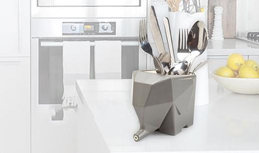 小象造型餐具收納瀝水盒 瀝水器 居家廚衛餐具牙刷收納盒 創意筷子 筆筒 盆栽