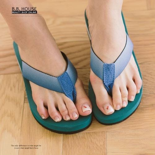 拖鞋-PLAYBOY輕盈夾腳海灘拖鞋.寶貝窩 .【PYS1207】(藍綠色)