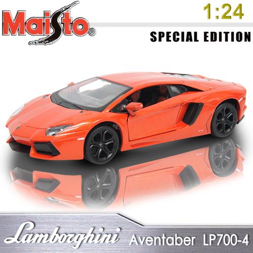 【Maisto】Lamborghini Aventadpr LP 700-4《1/24》合金模型車 -橘色