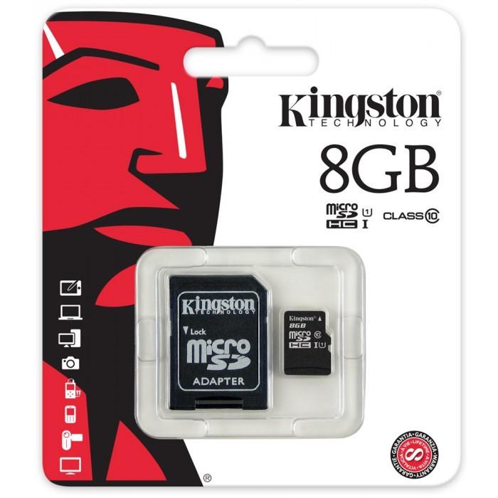 《超犀利影像》原廠 Kingston 金士頓 8G 記憶卡 C10 U1 高速記憶卡 TF卡 Micro SD卡