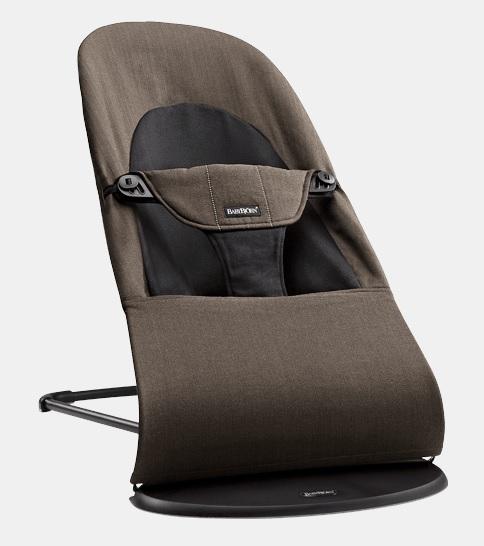 【淘氣寶寶】BabyBjorn Bouncer Balance Soft 柔軟彈彈椅-有機/咖啡 【彈彈椅自然擺動不需使用電池/符合人體工學】【正品】
