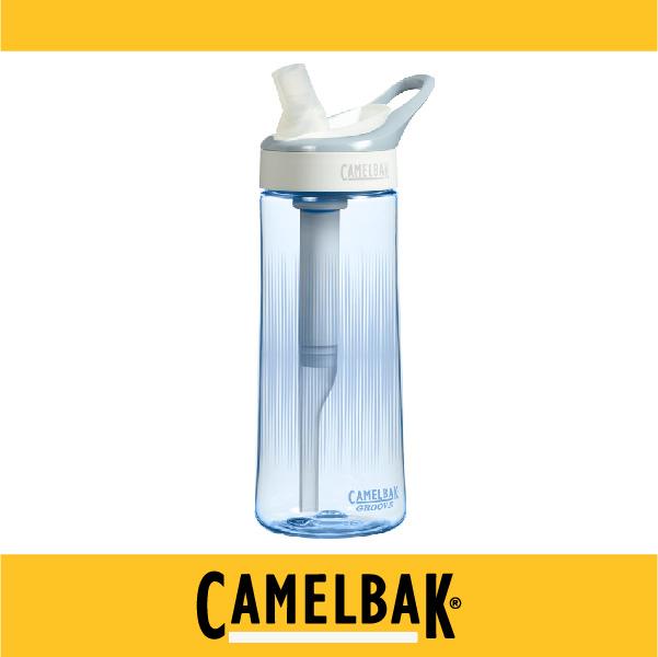 萬特戶外運動-CamelBak 美國補水專家 600ml濾心吸管水瓶 CB53285 過濾90%以上異味及濾味 (藍)