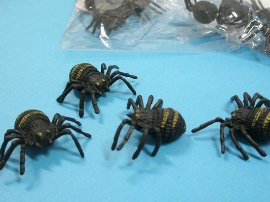 假蜘蛛 仿真蜘蛛 整人玩具 黑蜘蛛/{促10}一袋12包入(一包4隻入)共48支入