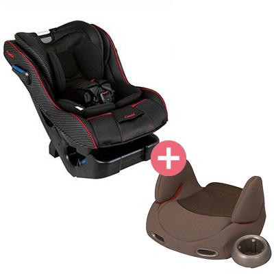 【悅兒樂婦幼用品舘】Combi 康貝 News Prim Long EG 汽車安全座椅+輔助汽座-棕x1【組合組】