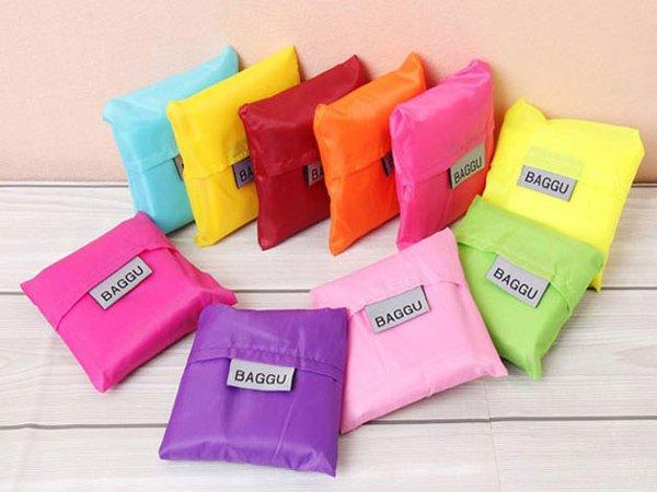 BO雜貨【SV6135】時尚折疊購物袋 彩色尼龍可折疊背心環保袋 購物袋 旅行整理手提