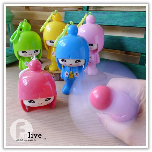 【aife life】日本娃娃大頭風扇/電動風扇/環保風扇/安全軟葉風扇/手拿扇/隨身 攜帶型/小風扇
