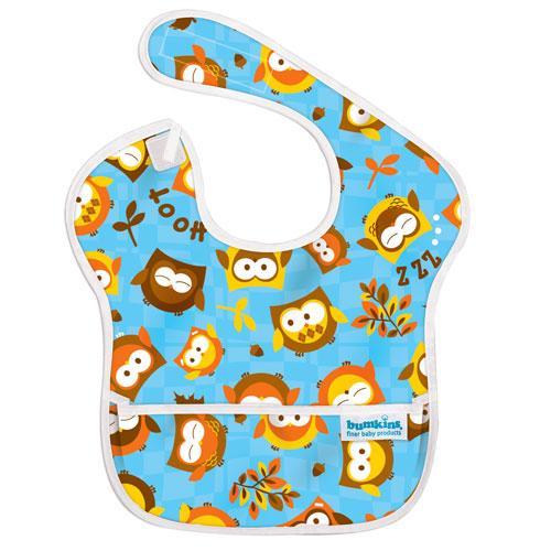 【淘氣寶寶】2016年最新 美國Bumkins防水兒童圍兜(一般無袖款6個月~2歲適用)-貓頭鷹【保證公司貨】
