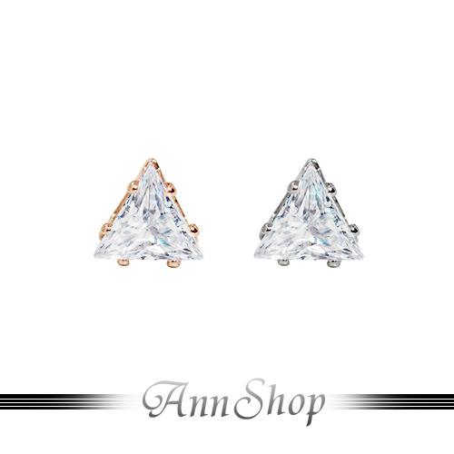 AnnShop【316L鋼‧立體三角鑽白鋼耳環】白鋼飾品/情人禮物 e30150-e30150A
