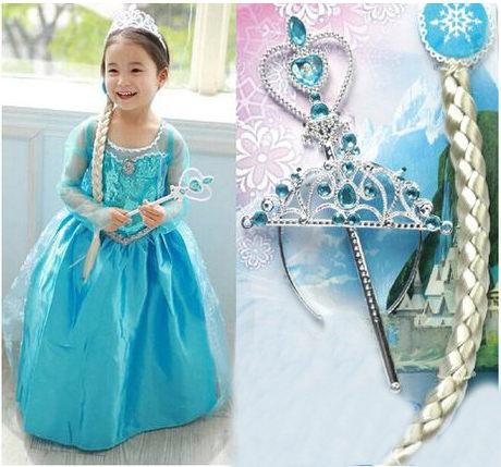冰雪奇緣公主Elsa禮服洋裝萬聖節聖誕節海渡
