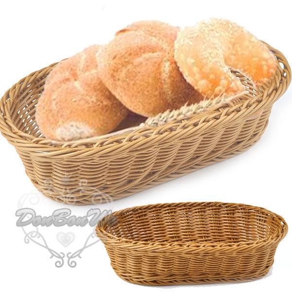 日韓儉約麵包籃竹籃圓形28CM咖啡042911海渡