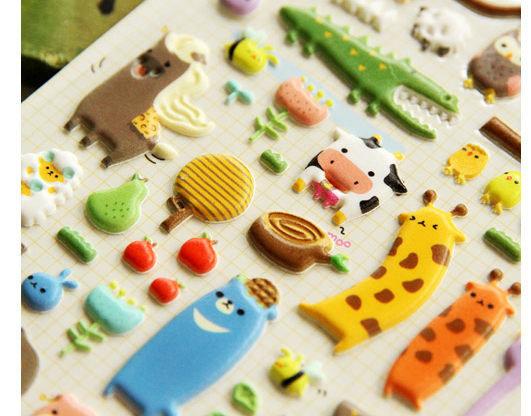 韓國連線動物園貼紙Sonia海綿泡泡貼紙DIY貼紙490357海渡
