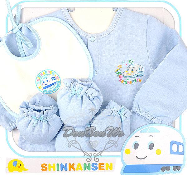 新幹線嬰兒兔裝圍兜手套襪套禮盒組902海渡
