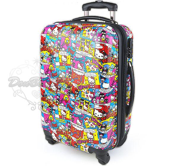 海外限定Kitty拉桿硬殼行李箱旅行箱登機箱18吋生日漫畫007898海渡 1101ktlug