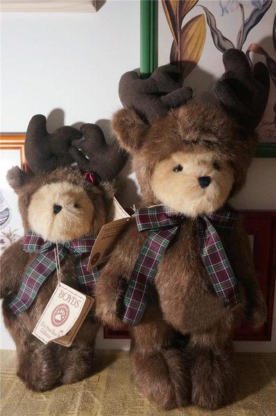 BOYDS泰迪熊娃娃絨毛玩偶麋鹿裝扮S011712代購海渡