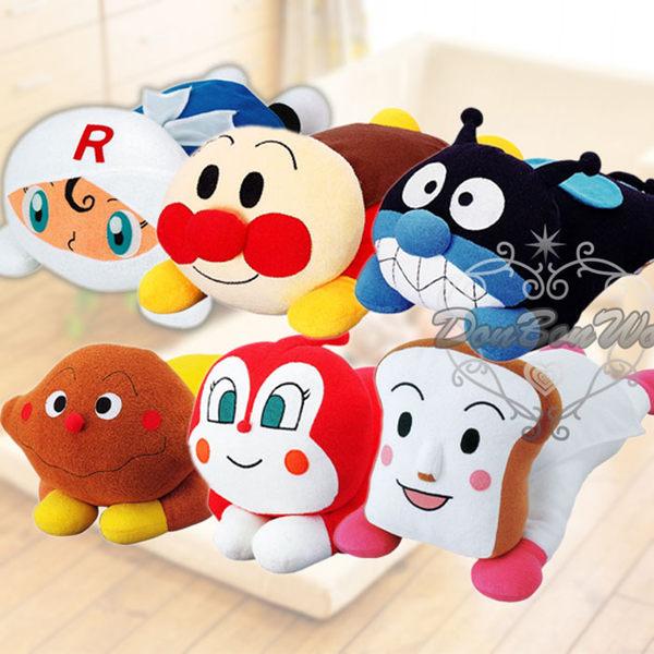 麵包超人毛巾布娃娃玩偶抱枕趴趴款與好朋友537144海渡