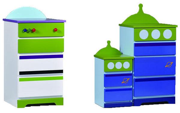迪士尼巴斯光年三眼怪五斗櫃木櫃日本製限定123059代購海渡