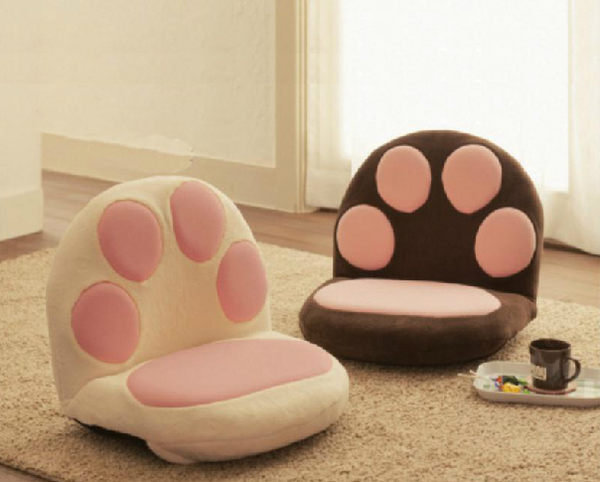 日式榻榻米貓爪沙發 懶人沙發和室桌椅地板椅海渡