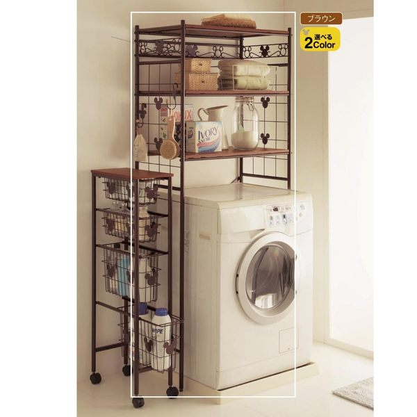 日本製米奇洗衣機置物架代購081695海渡