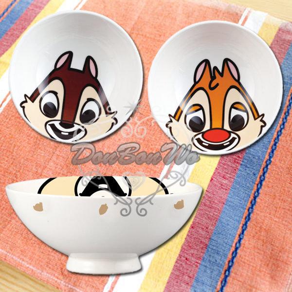 迪士尼奇奇蒂蒂陶瓷碗飯碗大臉奇232681蒂蒂232698海渡