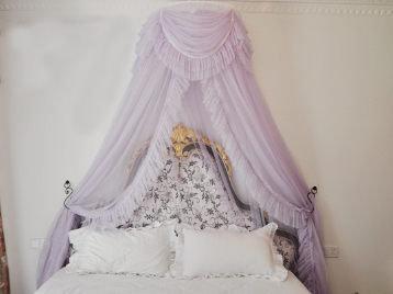 歐式宮廷公主蕾絲蚊帳浪漫單層蕾絲071370代購海渡