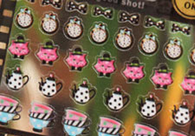 韓國連線愛麗絲茶會貼紙貼紙手帳本DIY貼紙環遊世界714890海渡
