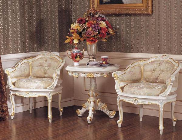 巴洛克歐式新古典沙發茶几椅子休閒椅石木圓桌化妝台椅子咖啡桌代購海渡