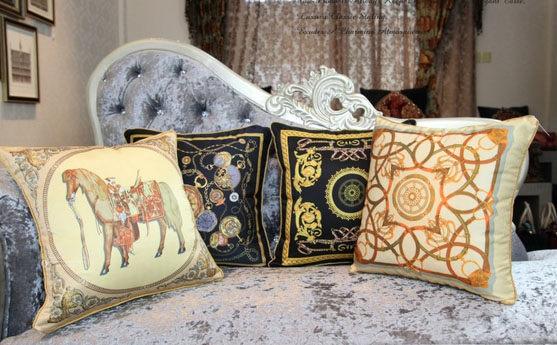 歐式舒伯納愛馬抱枕枕套不含枕芯代購海渡