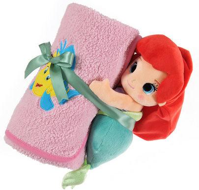 日本迪士尼美人魚毛毯娃娃車上被被子995923海渡