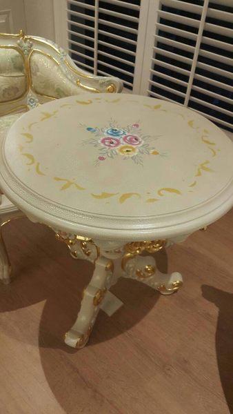 巴洛克欧式新古典沙发茶几椅子休闲椅石木圆桌化妆台