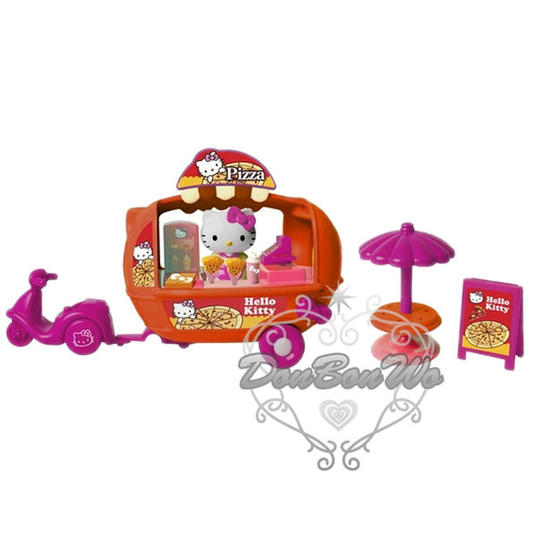 KITTY玩具模型PIZZA披薩餐車650267海渡