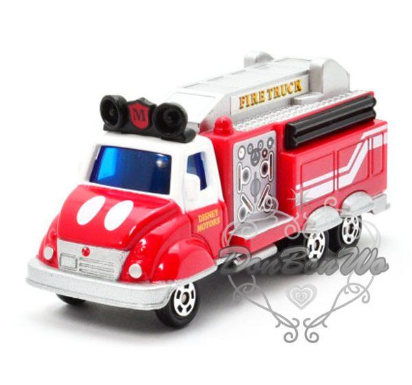 多美TOMY迪士尼玩具車模型DM11米奇消防車454229海渡