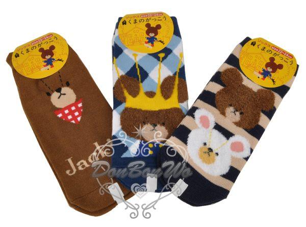 上學熊Jackie熊襪子短襪大臉格紋051264海渡