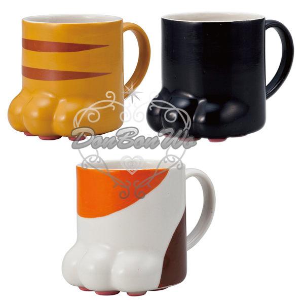 日本貓咪馬克杯陶瓷水杯腳掌黑230779虎斑230786三色230793海渡